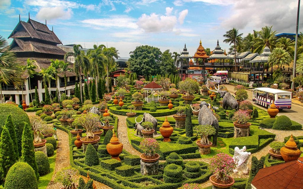 Thailand Parks Sculptures Nong Nooch Tropical - тропический сад Нонг Нуч